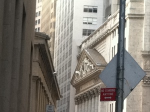 Severe architectural angles on buildings on Exchange Place